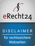 eRecht24 Disclaimer-Siegel